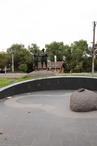 Riual Circle and Smoking Bowl leading to main sculptures