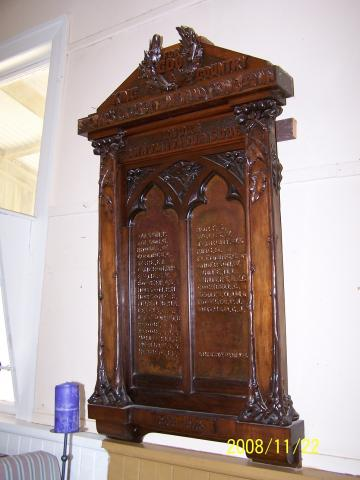 Princetown Honour Board Attributed to Robert Prenzel