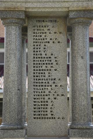 The First World War Roll of Honour O-W