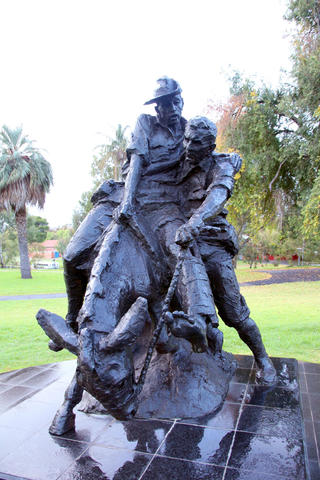 Simpson and his Donkey Statue at Australian Defence Force Health Service Memorial