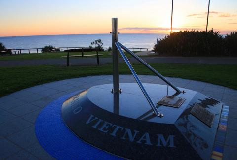 32 Small Ship Squadron Memorial looking southwards over Point Danger