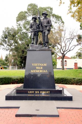 Vietnam War Memorial  located on Victoria Drive, Adelaide