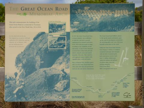 The interpretive signboard