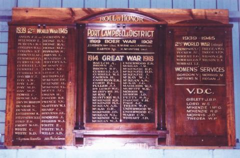 Port Campbell Honour Board