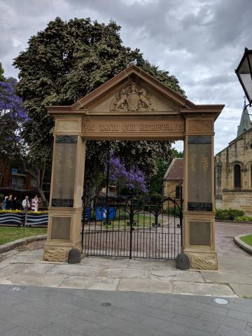 Memorial Arch, St. John's Anglican Cathedral, Parramatta