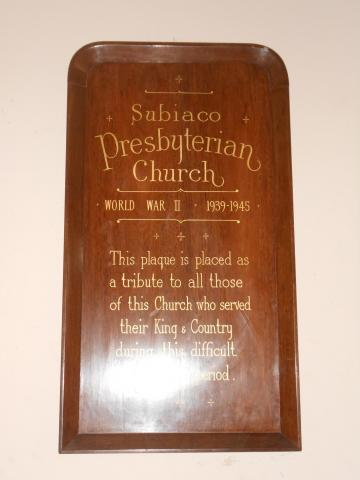 Subiaco Presbyterian Church Memorial