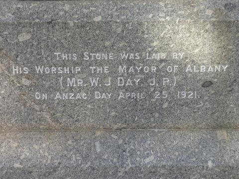 The Memorial foundation stone
