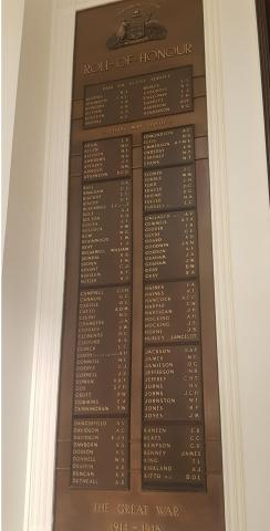 Commonwealth Bank of Australia Roll of Honour