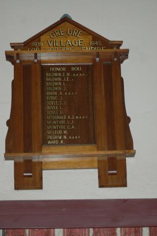 Gre Gre Village Honour Roll