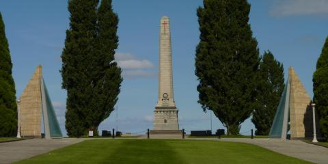 The Hobart Cenotaph, with the Victoria Cross Memorial