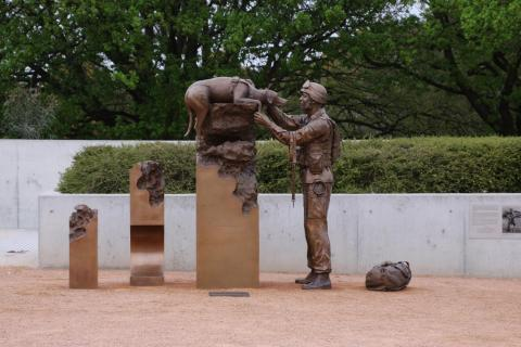 Explosives Dector Dogs and their Handlers Memorial at the Australian War Memorial Canberra