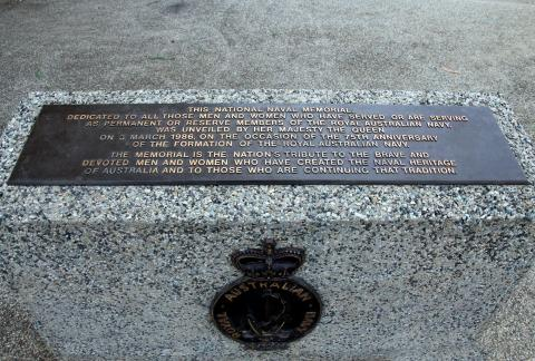 Royal Australian Navy Memorial Dedication Plaque