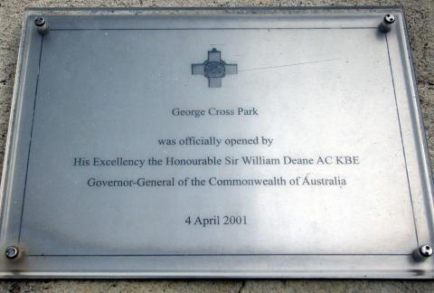 George Cross Memorial Dedication Plaque