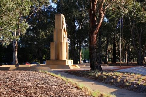 Rats of Torbruk Memorial on south eastern side of Anzac Parade, Canberra