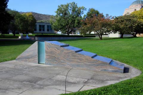 Sandakan Memorial in the grounds of the Australian War Memorial, Canberra