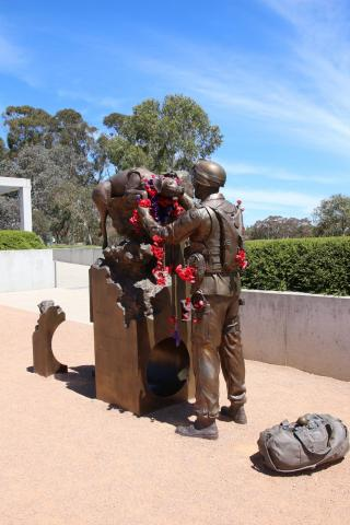 Explosive Detector Dogs and their Handlers Memorial at the Australian War Memorial Canberra