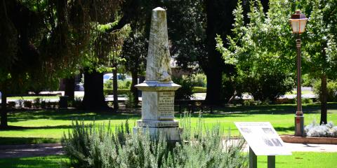 The Memorial to Corporal Joseph Palazzi, of the New South Wales Mounted Rifles, who was killed in action at Palmeitfontein, South Africa.