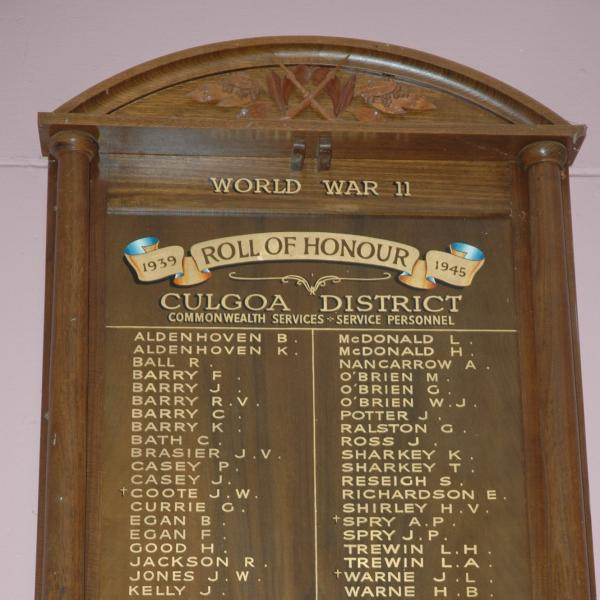 Culgoa District Honour Roll