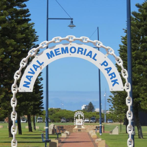 Entrance to Naval Memorial Park