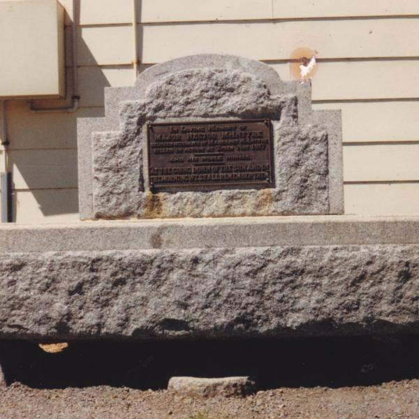 Horse Trough donated by McIntyre family in memory of Major Henry McIntyre