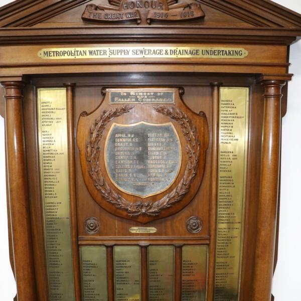 Metropolitan Water Supply Sewerage and Drainage Roll of Honour
