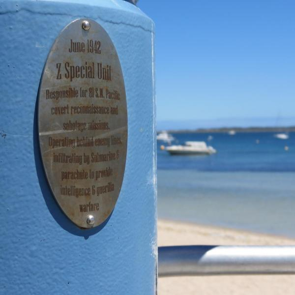 Z-Force plaque on jetty bollard