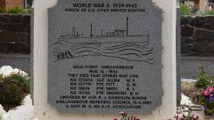 The panel commemorating the four Australian soldiers lost during the SS Cities Service Boston crew rescue