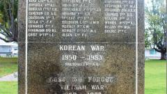Collie War Monument WW2, Korea & Vietnam Honour Roll - north side marble plaque
