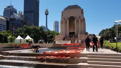 ANZAC Memorial Hyde Park View from Centenary Extension, on Centenary of Armistice 2018
