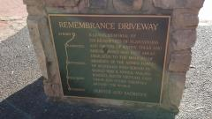 """Roadmap"" highlighting the route of the Remembrance Driveway"