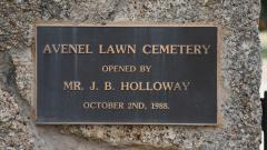 The Lawn Cemetery opening plaque