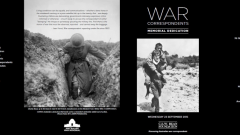 Official Program for the Dedication of the War Correspondents Memorial, 23 September 2015