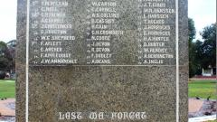 Collie War Monument WW1 Honour Roll - west side marble plaque