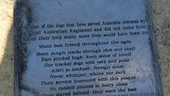 Plaque in memeory of Autralian War Dogs that did not return