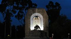 National Soldiers Memorial Adelaide at night