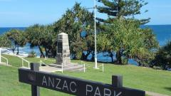 Anzac Park situated along the Caloundra Headland Memorial Walkway at Wickham Point