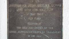 Army Corps Memorial Plaque erected 14 May 2000