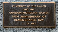 In Memory of the Fallen - 75th Anniversary of the Armistice