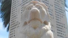 The 'Gallipoli Lion' on the Leederville Cenotaph