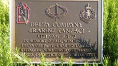 Adjacent memorial to  Delta Company 4 RAR / NZ (ANZAC)