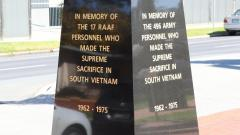 Memorial to RAAF and Army personnel who did not return - Vietnam - 1962-1975
