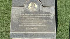 Plaque acknowledging ADF Trackers and Military Working Dogs