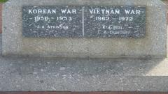 Commemorating those who died during the Korean and Vietnam Wars