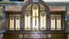 Memorial Chapel Triptych in the normal closed position.
