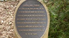 The Bardia and Tobruk plaque along the walk