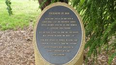 The Prisoners of War plaque along the walk
