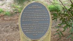 The Australia Under Direct Attack plaque along the walk