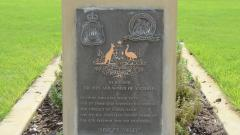 The 'Australia Remembers' plaque dedicated to all who served
