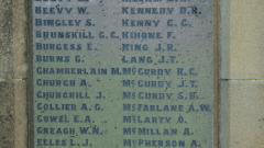 The First World War Roll of Honour A-M