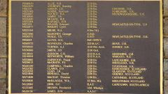 Roll of Honour, additional panel
